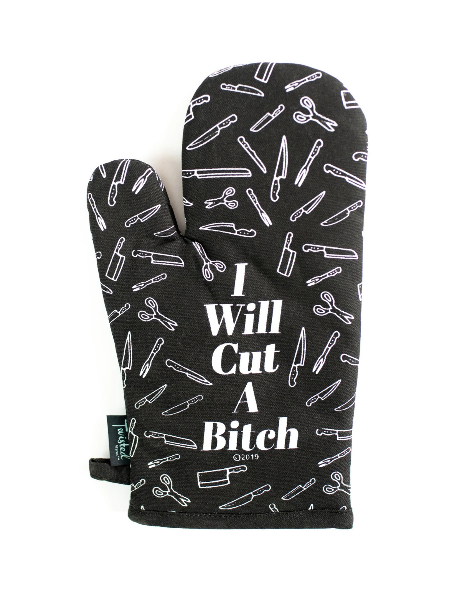 Twisted Wares Cut A Bitch Oven Mitt