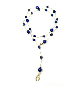 Navy Baroque & GF Lariat/Necklace