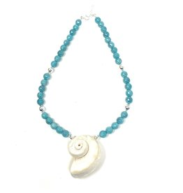 Amazonite & Nautilus Necklace