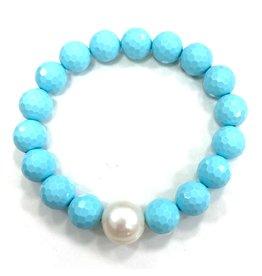 Magnesite & FWP Bracelet