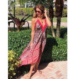 Indian Tropical Fashions Pretty In Python Handkerchief Dress
