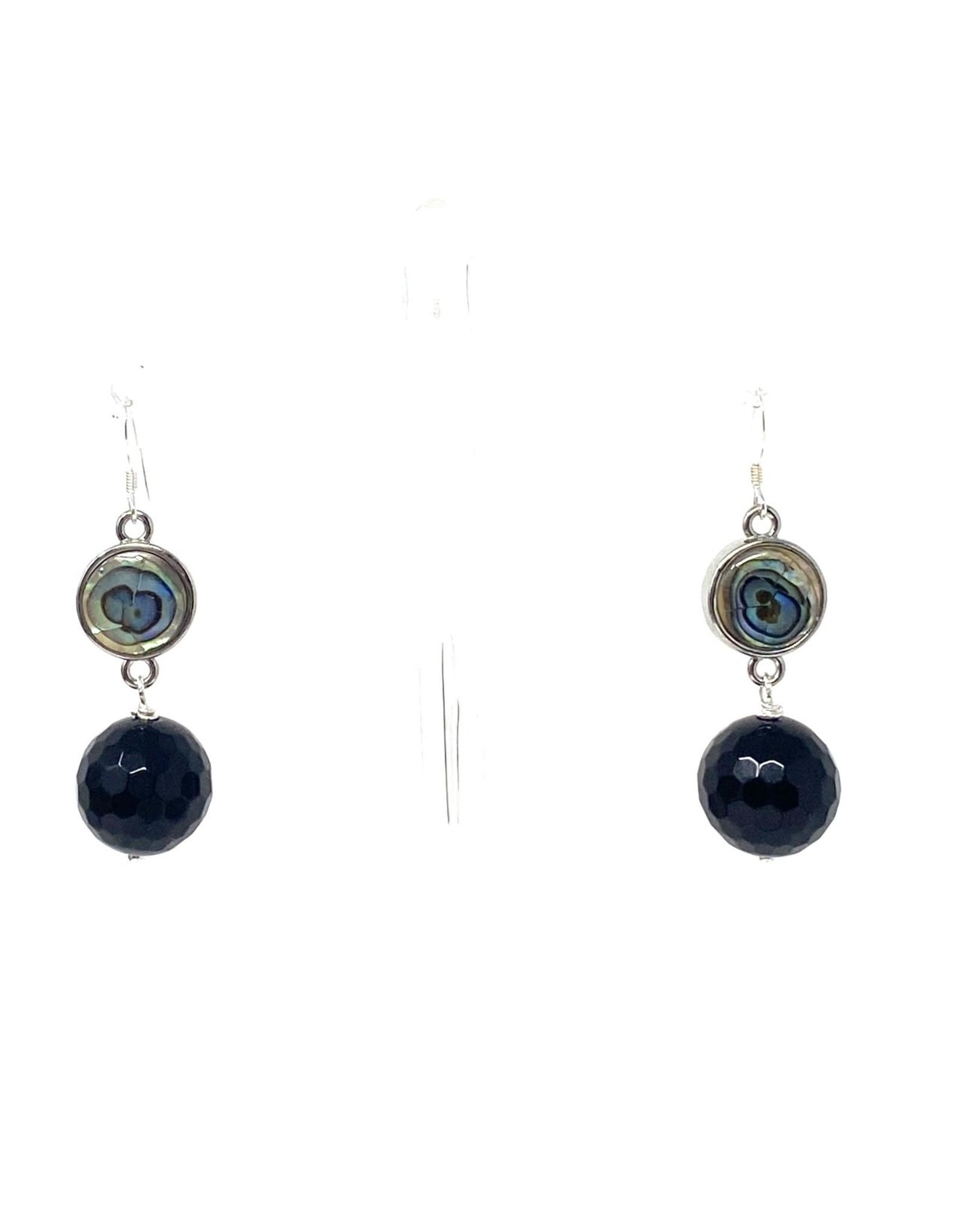 Abalone & Onxy Drop Earrings