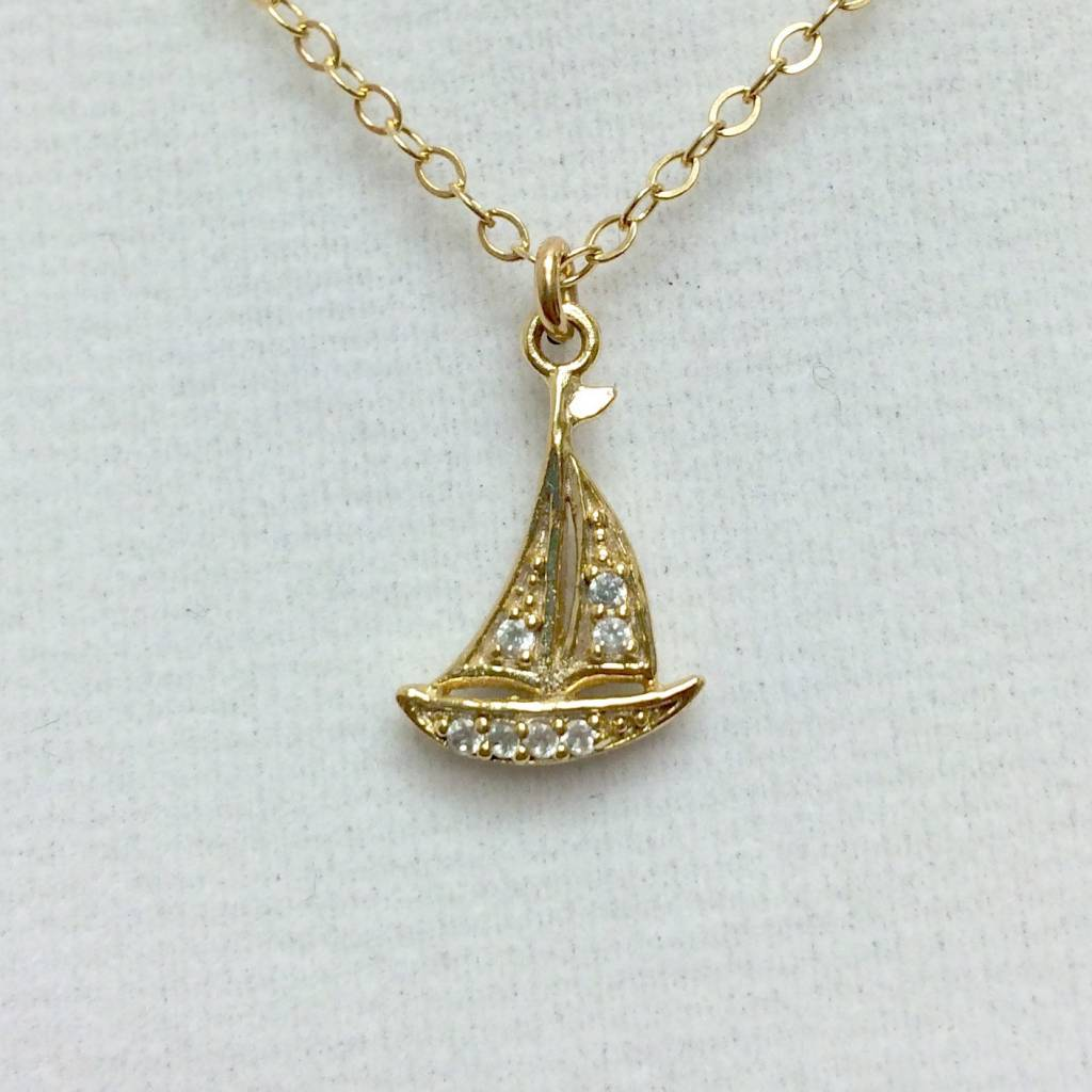 Sailboat - CZ Gold Filled