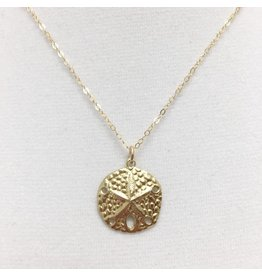 Sand Dollar - Large Gold Filled