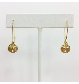 Gold Filled Sand Dollar Earring Small