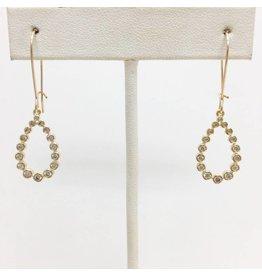 Gold Filled CZ Teardrop Earrings