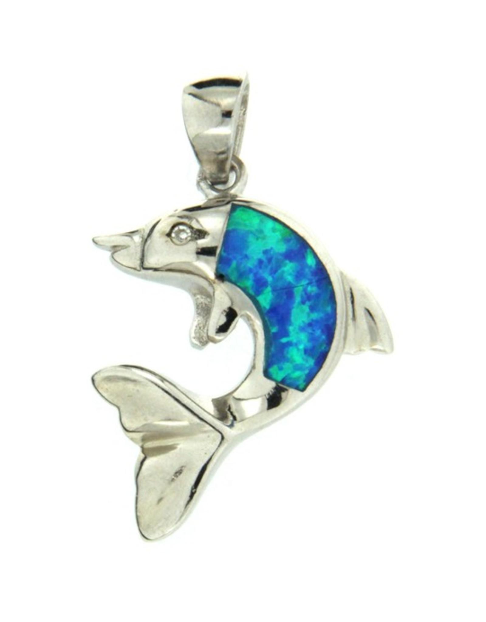 Sterling & Opal Dolphin (Large Single Opal)