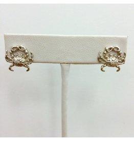 Sterling Crab Stud Earrings