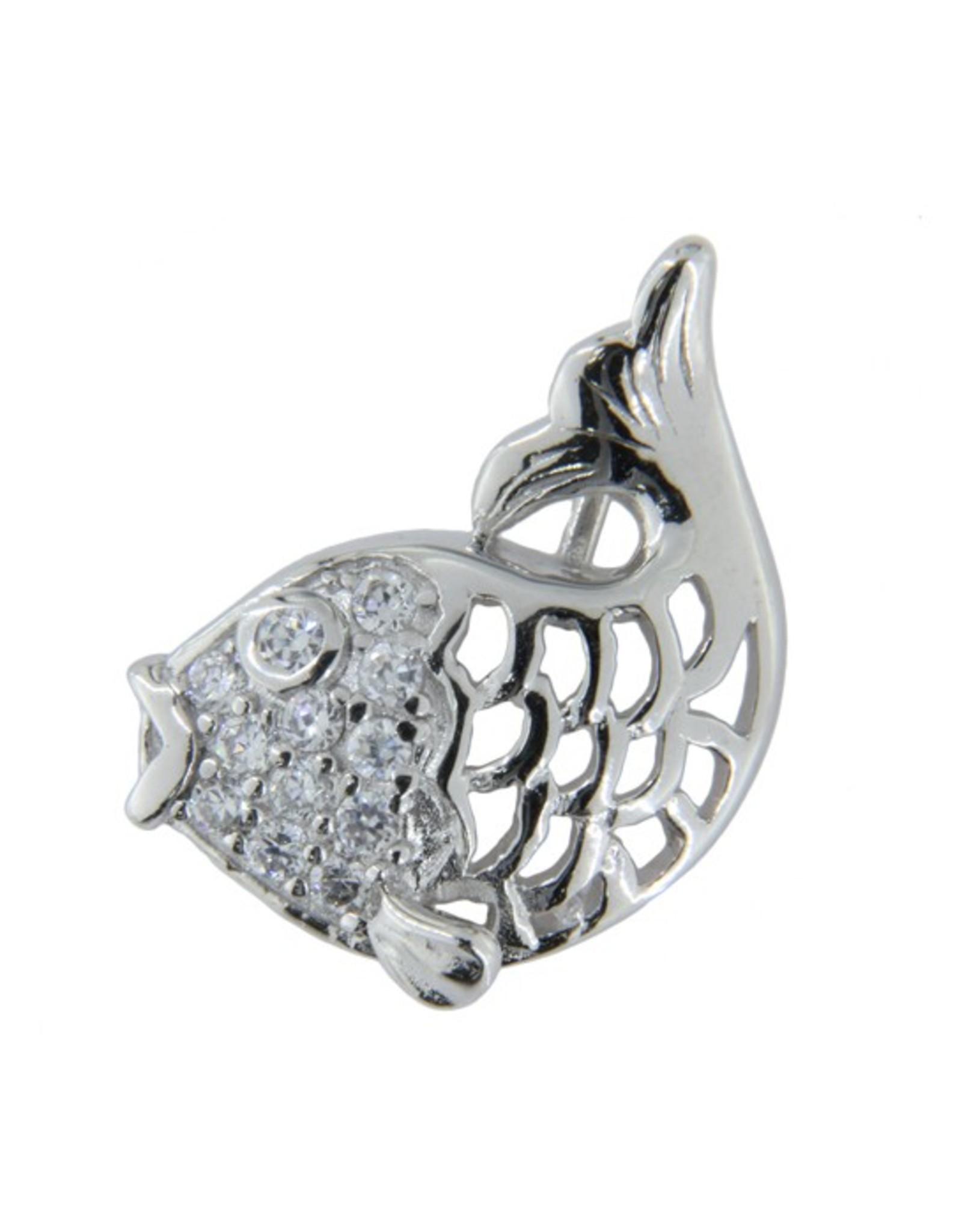 AGM Silver Koi Fish - CZ Silver