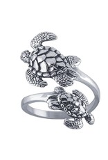 Sterling Double Turtle Ring