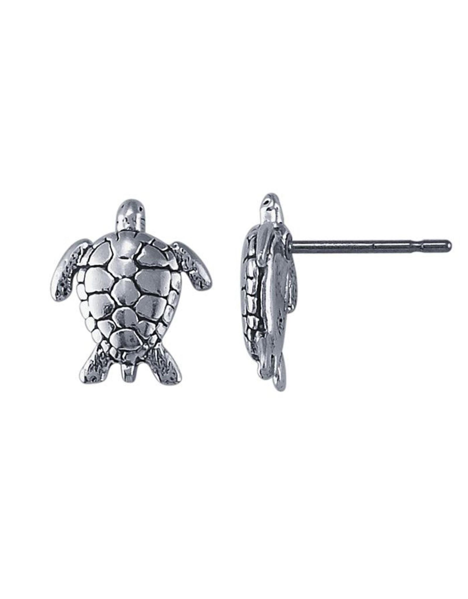 Sterling Turtle Stud Earrings