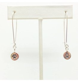 Sterling Dog/Cat Paw Print Earrings