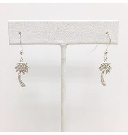 Sterling CZ Palm Tree Earrings