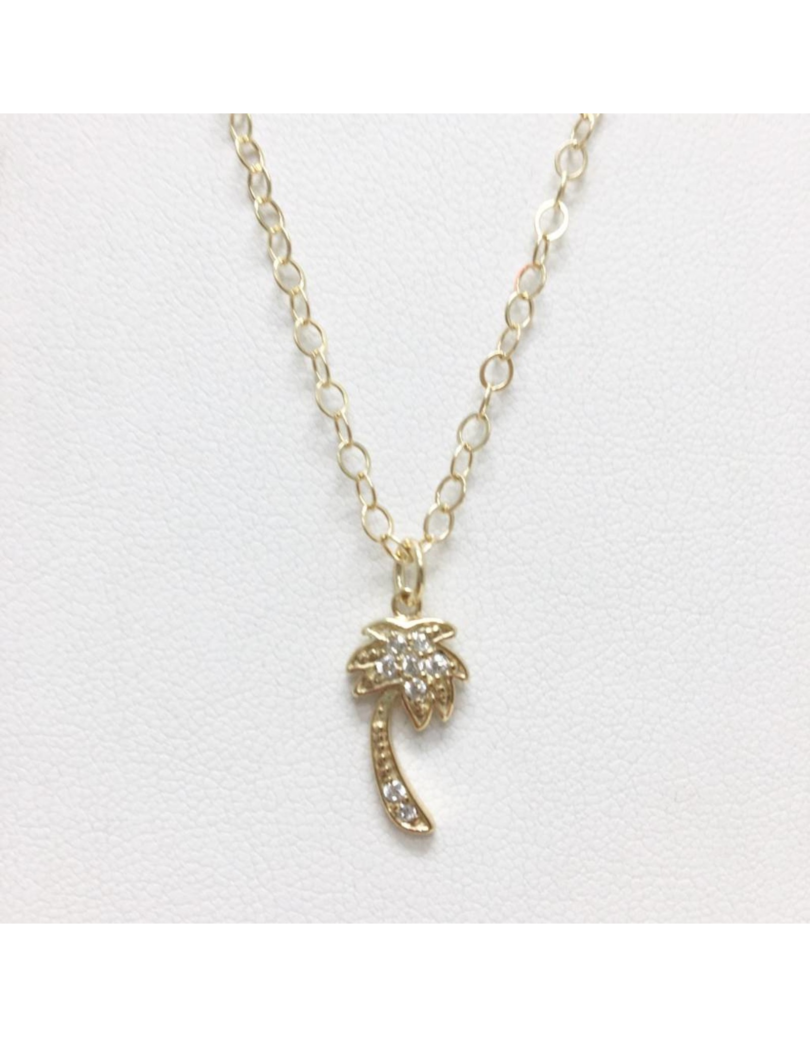 Palm Tree - CZ Gold Filled