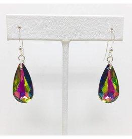 Sterling Rainbow Crystal Earrings