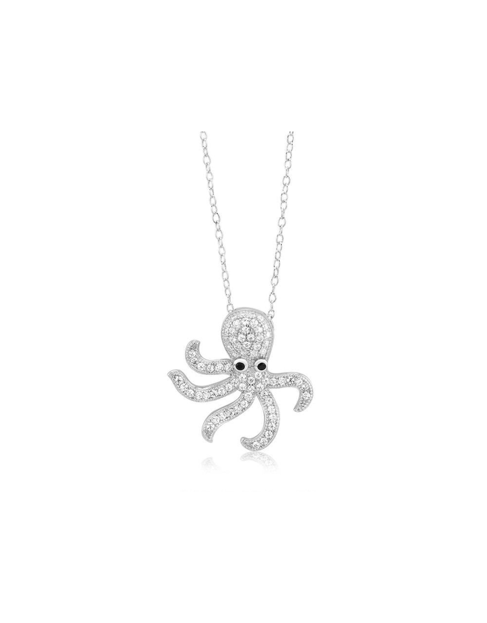 Octopus - CZ with Black Eyes