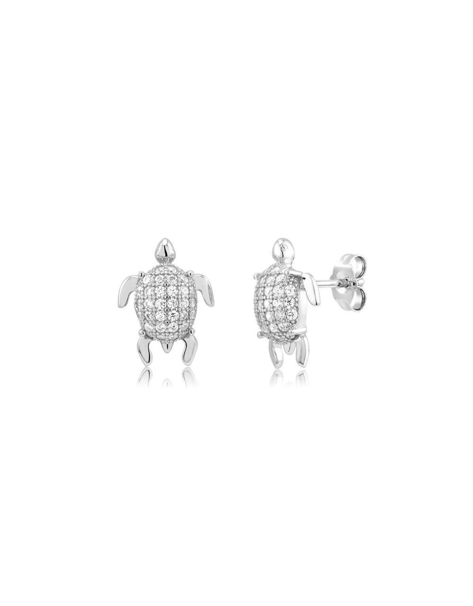 CZ Turtle Studs