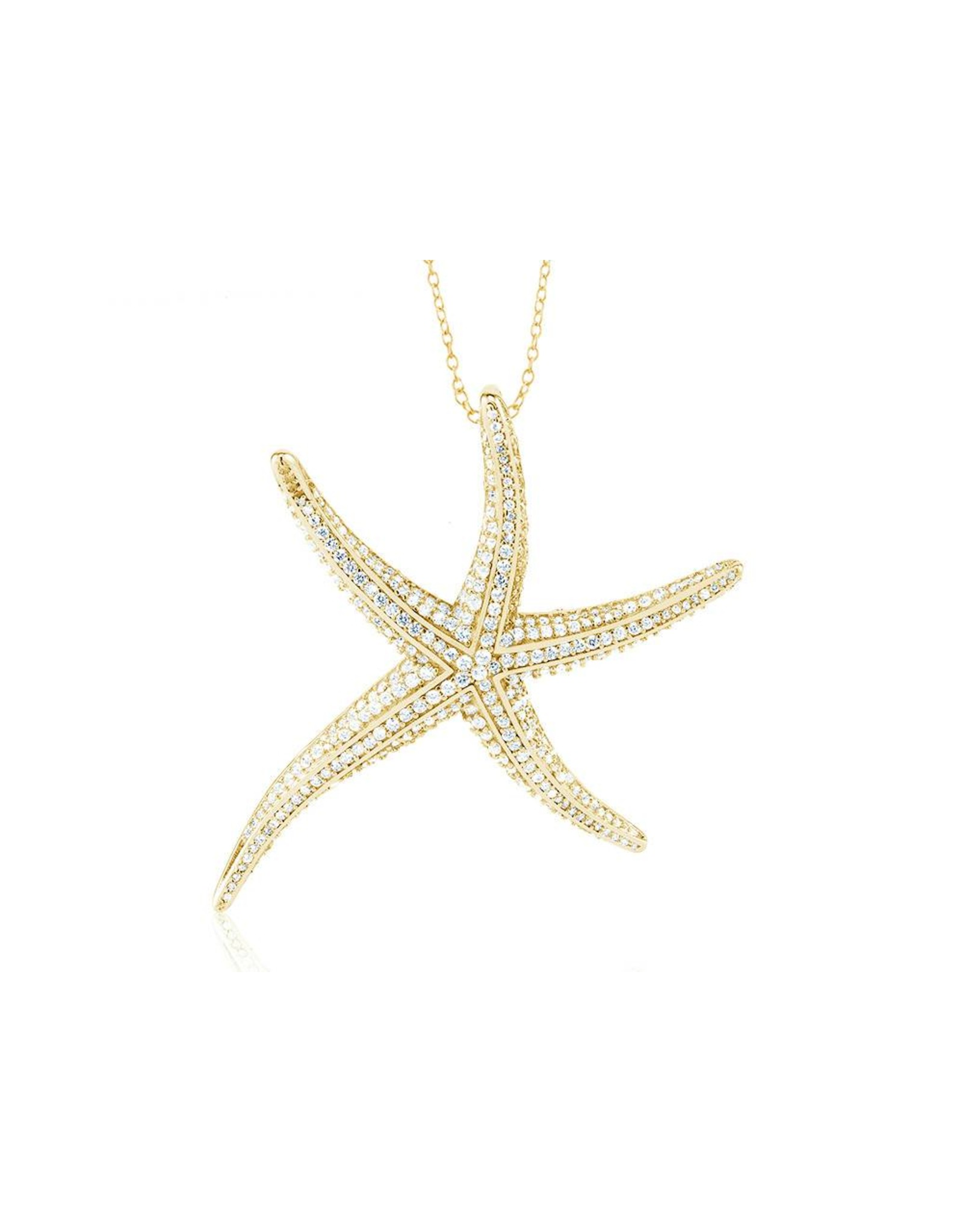 Starfish - Large CZ Gold Filled