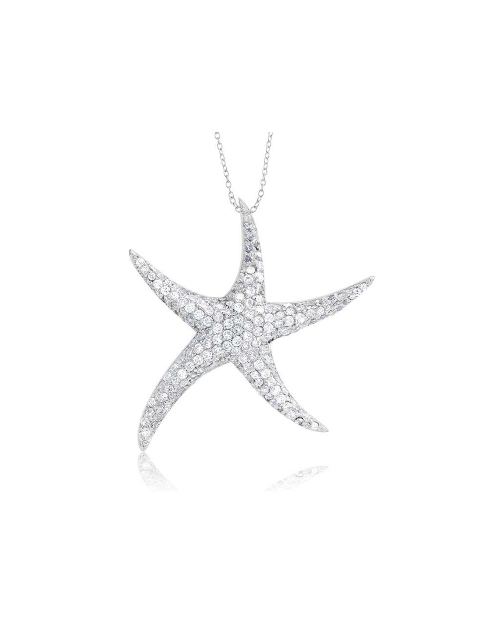 Starfish - Med CZ Silver