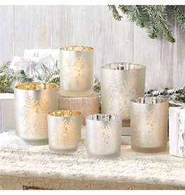 Large Snowflake Candle Holder