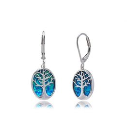 Opal Tree of Life Earrings