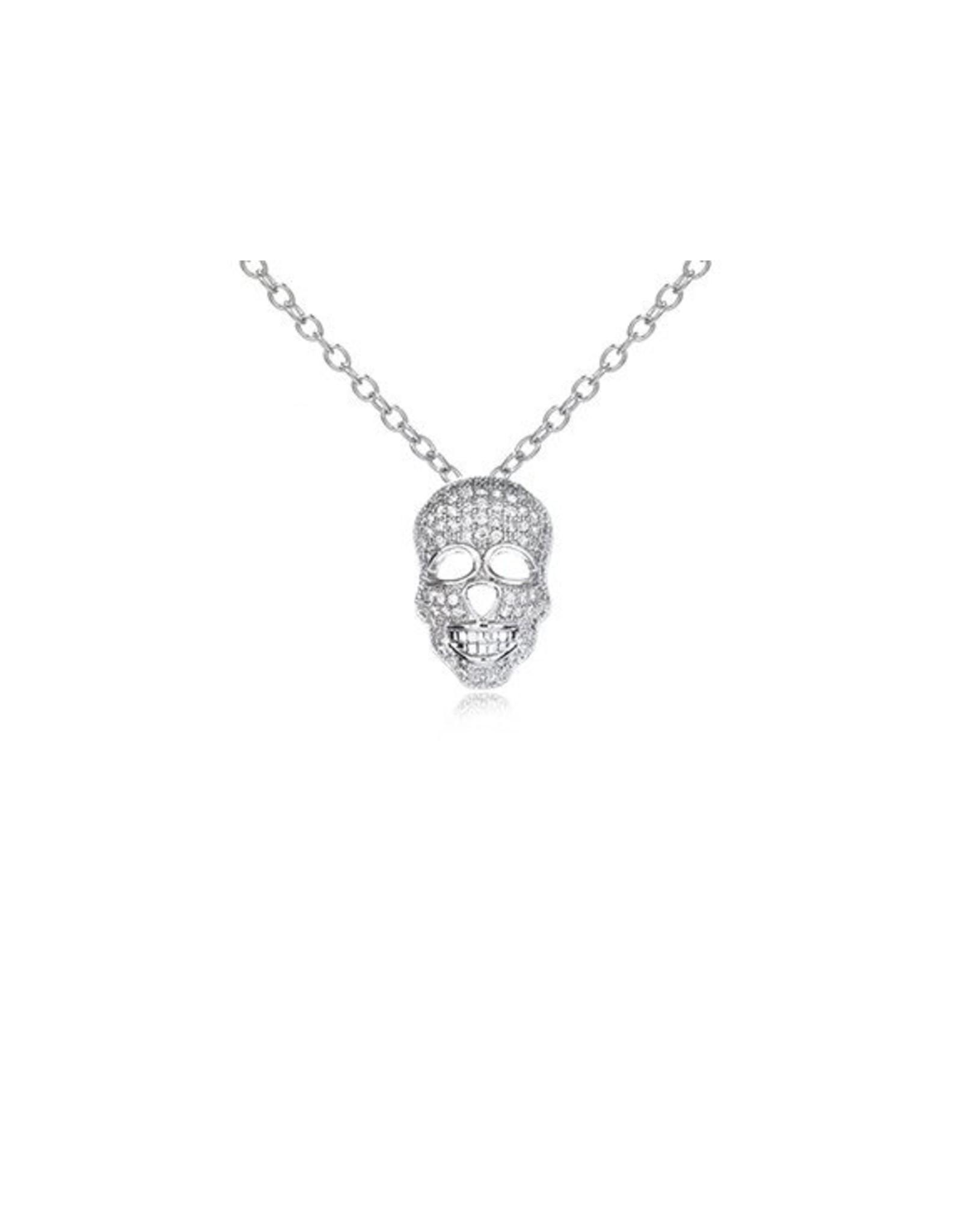 CZ Skull Pendant