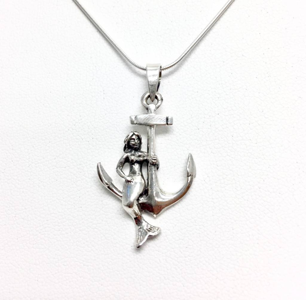 Anchor Mermaid Pendant