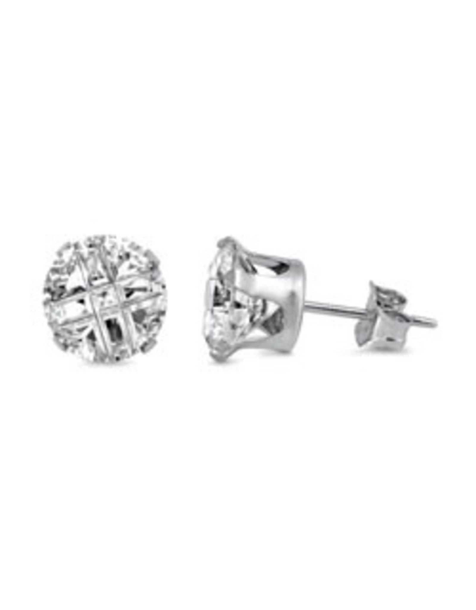 8 mm Invisible CZ Studs