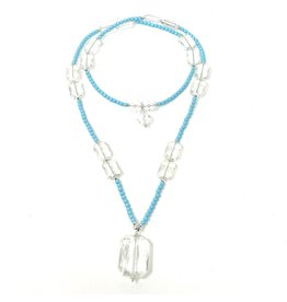 Aqua Magnesite Crystal Convertible