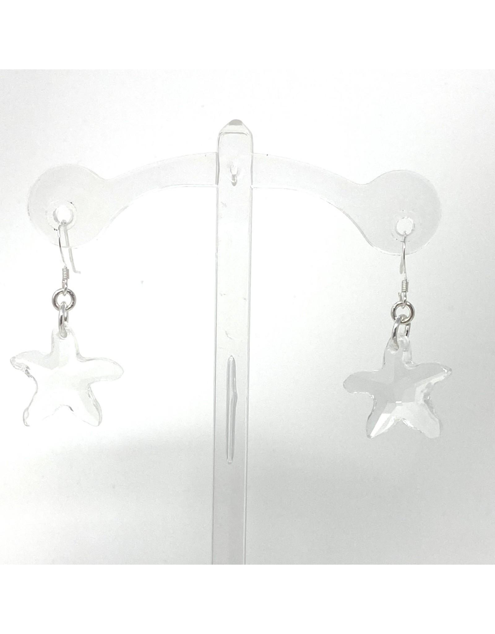 Sterling Swarovski Crystal Starfish Earrings