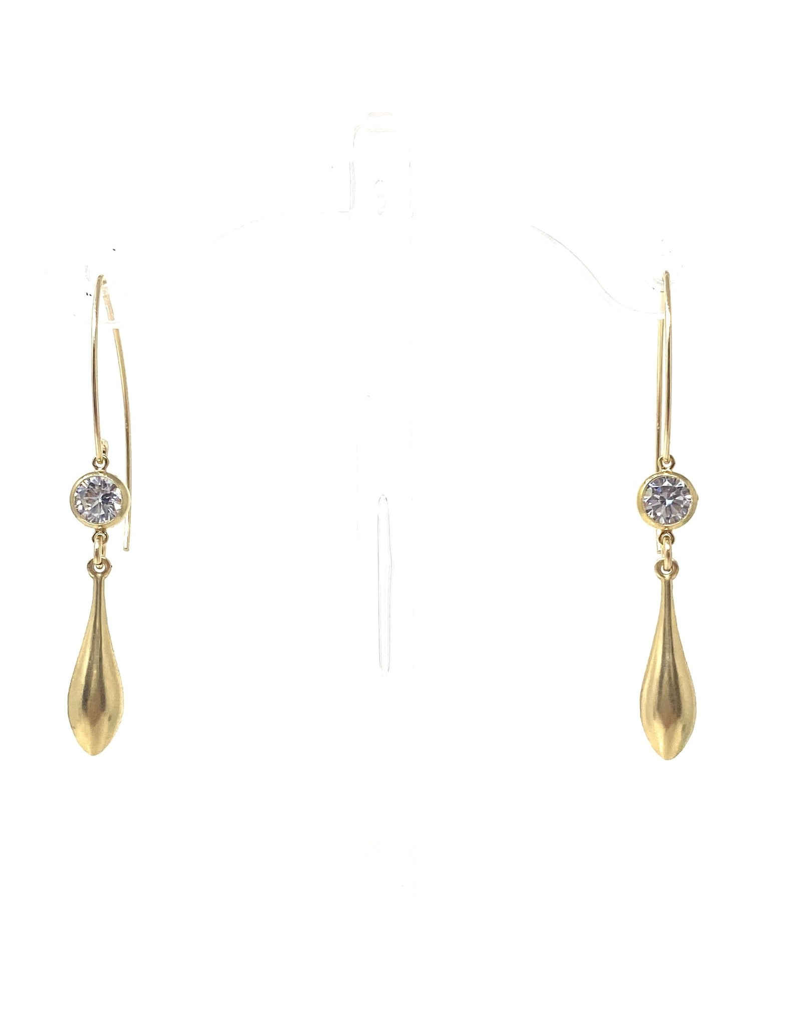 Large Hook CZ Drop Earrings