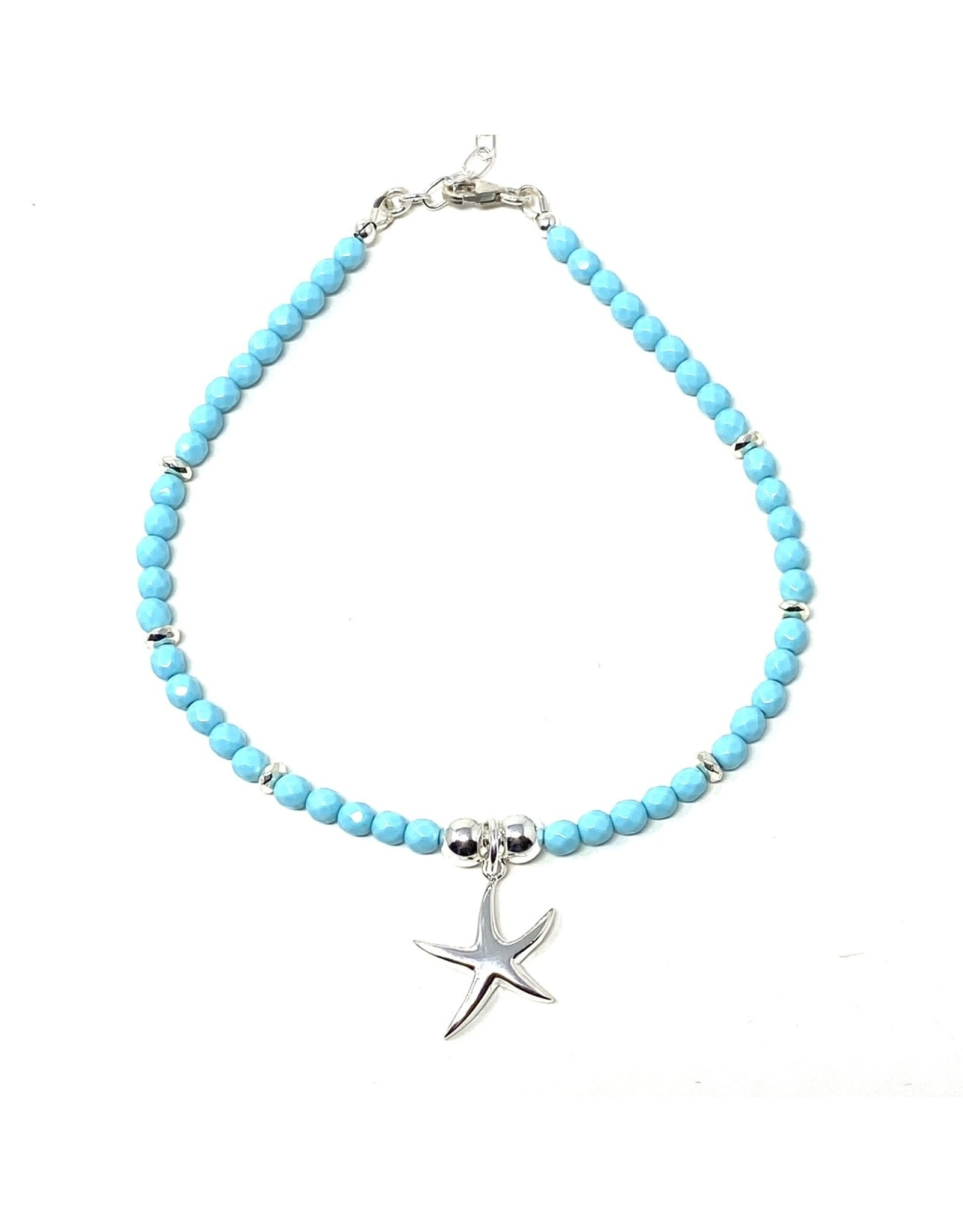 Magnesite & Starfish Anklet