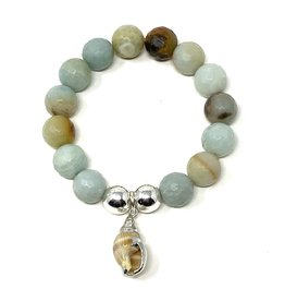 Amazonite & Shell Bracelet