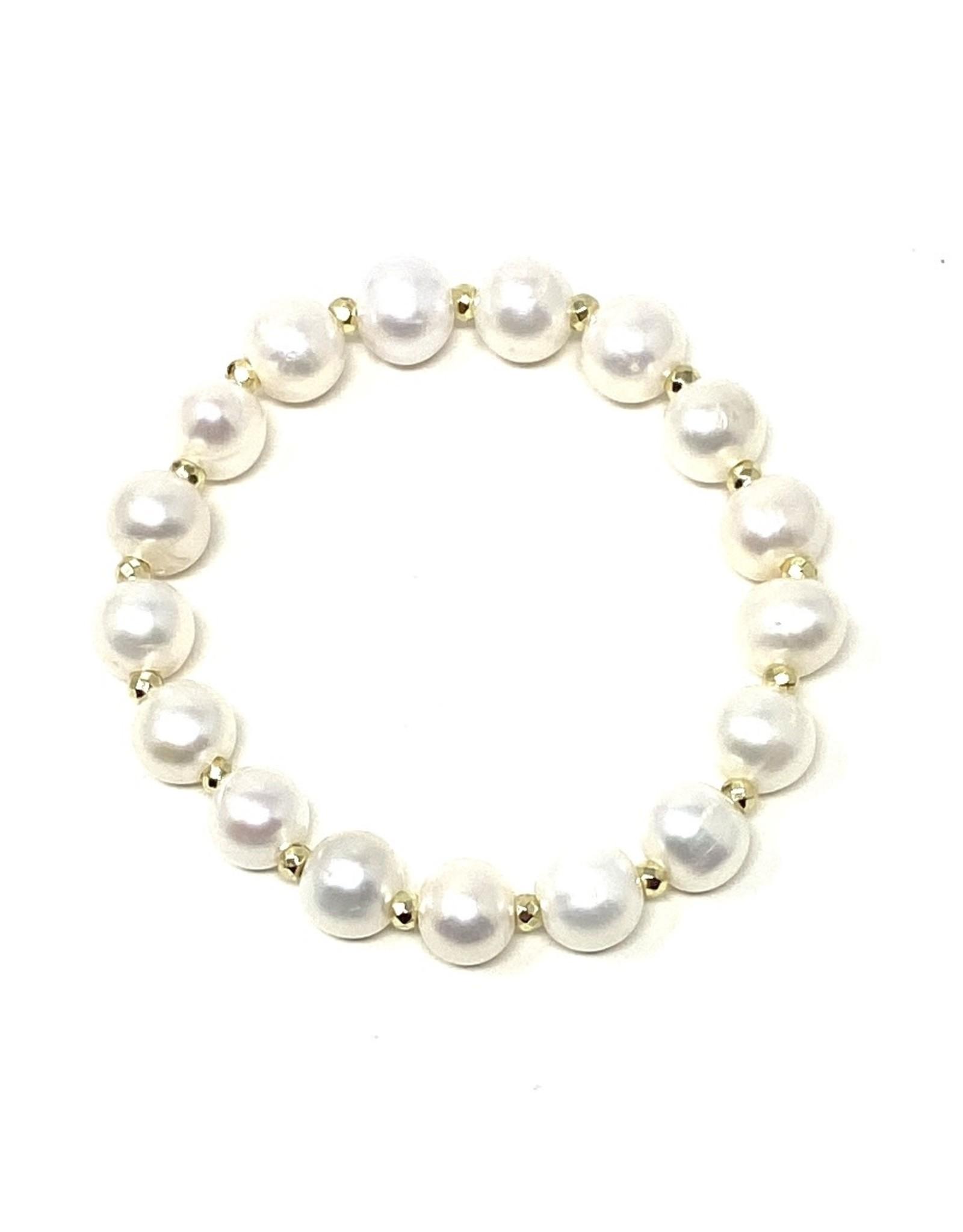 Pearl & Gold Hematite Bracelet