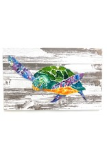 """Salty Signs Designs Sea Glass Turtle 35x22"""""""