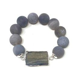 Square Druzy Agate Bracelet