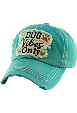 KB Ethos Dog Vibes Only Turquoiose Cap