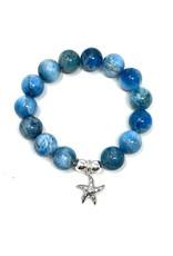 Apatite & CZ Starfish Bracelet