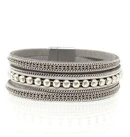 Sunrise USA Trading Grey Metal Bead Bracelet Bracelet