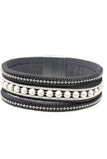 Sunrise USA Trading Gunmetal Metal Bead Bracelet Bracelet