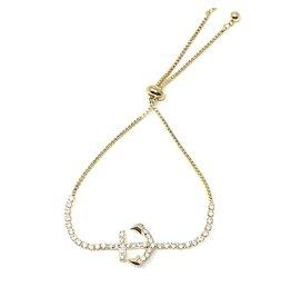 Sunrise USA Trading Gold Anchor CZ Adj. Bracelet