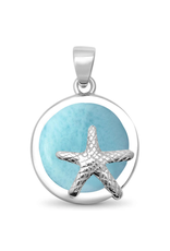 Sonara Jewelry Natural Larimar Starfish Pendant