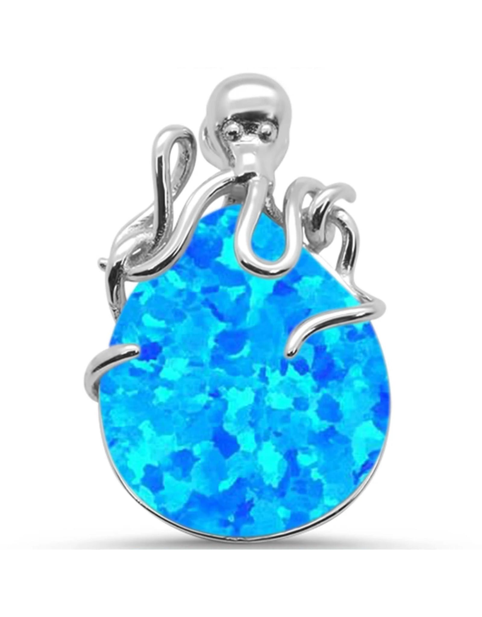 Sonara Jewelry Blue Opal Octopus Pendant