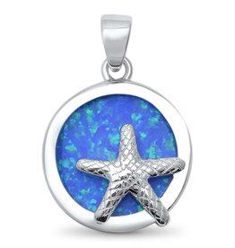 Sonara Jewelry Blue Opal Starfish Pendant
