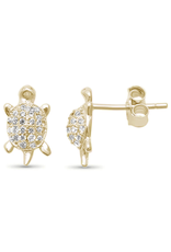 Sonara Jewelry GP CZ Turtle Studs
