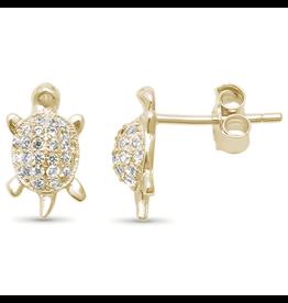 Sonara Jewelry GP CZ Turtle Studs