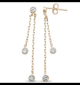 Sonara Jewelry GP Bezel CZ Earrings