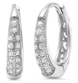 Sonara Jewelry Pave CZ Huggie Hoop