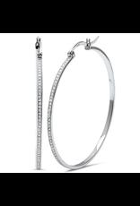 Sonara Jewelry Pave CZ 50mm Hoop