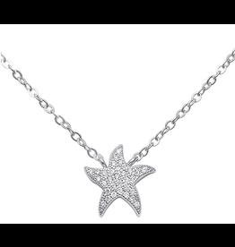Sonara Jewelry Sterling CZ Starfish Necklace